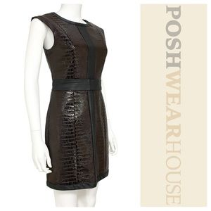 Dresses & Skirts - MARK. Brown & Black Shift Dress